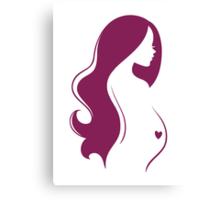 Pregnant woman's silhouette Canvas Print