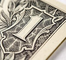 US Dollar bill, super macro photo by nikwaller