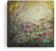 My soul is like a garden... Canvas Print