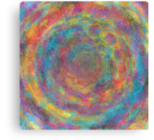 womandala with hexagonal vortices Canvas Print