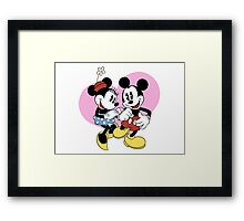 minnie and mickey mouse Framed Print