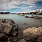 Littlton Jetty New Zealand by Margaret Metcalfe