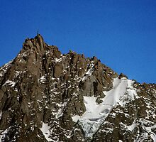 Looking back to mountain with something on top nr Chamonix France 198404270092 by Fred Mitchell