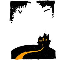 Happy halloween card with castle Photographic Print