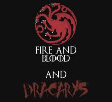 Targaryen Fire and Blood and Dracarys by Alessandro Tamagni
