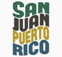 San Juan Puerto Rico Retro Wave by Location Tees