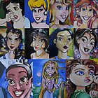 Princess Fine Art Mash-up by lissyleem