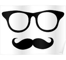 Nerdy Mustache Man Poster