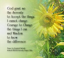 Serenity Prayer Sunflower by serenitygifts