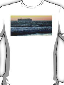 Sunset Cargo Ship T-Shirt
