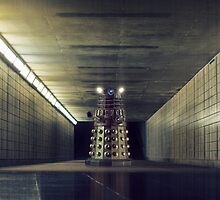 Dalek from Doctor Who in subway by BadWolfs