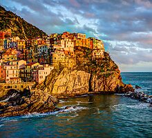 Manarola Italy by Wade Brooks