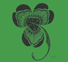 Irish Celtic Clover Shamrock  by wildwildwest