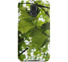 Green Summer Rain with Grape Leaves - Vertical Samsung Galaxy Case/Skin