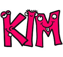 Kim first name girls child kid funny by Style-O-Mat
