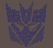 Decepticons - Typography G1 by Ten Ton Tees