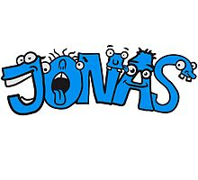 Jonas first name boy child fun cartoon Monster by Style-O-Mat