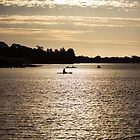 Rowing to sunset by Streak