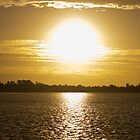 Sunset at Lake Wendouree by Streak