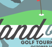 Lost - Hurley's Island Open Golf Tournament Sticker