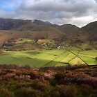 Buttermere and Crummock water from red pike by Peter Skillen