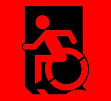 Accessible Means of Egress Icon Emergency Exit Sign, Left Hand by Egress Group Pty Ltd