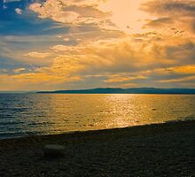 Sunset at Brela, Croatia.  by Dave Rowley