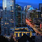 Vancouver at Night by Charles Kosina