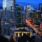 Vancouver at Night by Charles Kosina