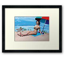 Girl under the Sun Framed Print
