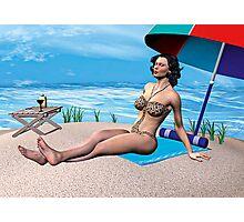 Girl under the Sun Photographic Print