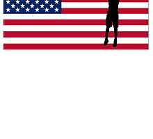 Basketball Jump Shot American Flag by kwg2200