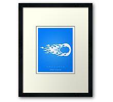 Hadouken Minima Framed Print