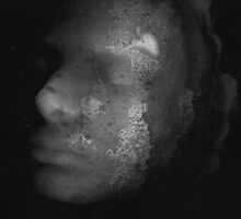 Photocopied Expanding Foam Portrait series (1) by Kathryn Anne Trussler