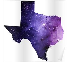 Purple Texas Nebula Poster