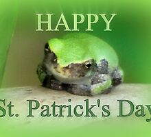 Happy St Patrick's Day - frog wearing the green by Jean Gregory  Evans