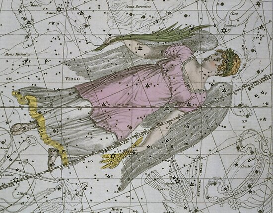 Virgo, from A Celestial Atlas by Bridgeman Art Library