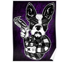 French Bulldog Gangster Poster