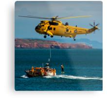 Rescue Practice at Dawlish Airshow Metal Print