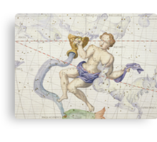 Constellation of Aquarius Canvas Print