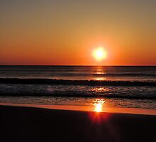 Bright Orange Sunrise by MadVonD