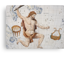 Constellation of Hercules with Corona and Lyra Canvas Print