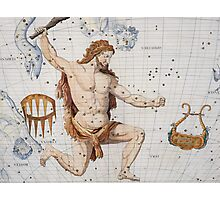 Constellation of Hercules with Corona and Lyra Photographic Print