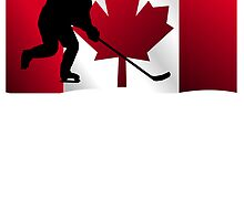 Hockey Canadian Flag by kwg2200