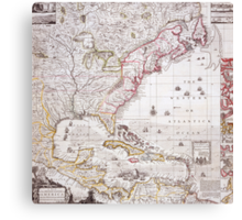 A Map of the British Empire in America with the French settlements adjacent thereto Canvas Print