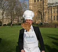 Julian Huppert MP for Cambridge pancake Race by Keith Larby