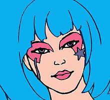 Jem and The Holograms - Aja #2 Face - Tablet & Phone Cases by DGArt