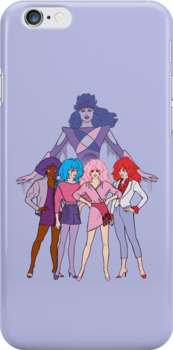Jem and The Holograms - Group #2 Purple - Tablet & Phone Cases by DGArt