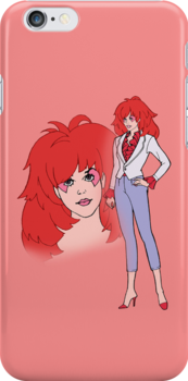 Jem and The Holograms - Kimber #1 Red - Tablet & Phone Cases by DGArt