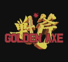 Vintage Video Game Golden Axe T-shirt by Nasherr